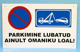 Parkimise keelu sildid