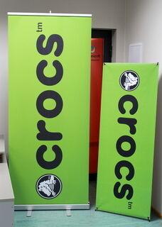 Crocs rollup ja X banner stendid
