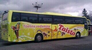 Taisto linja-auton teippaus