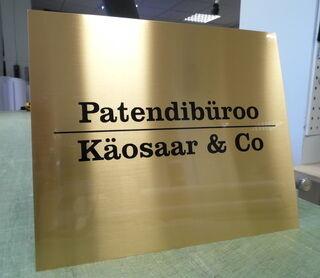 Mainoskyltti Käosaar & Co