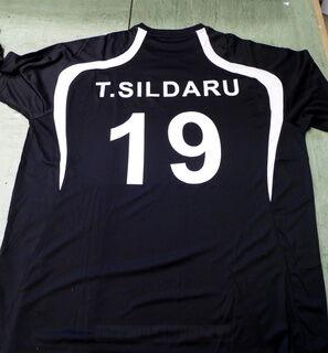 Lämpöpaino jalkapallo paidalle 19