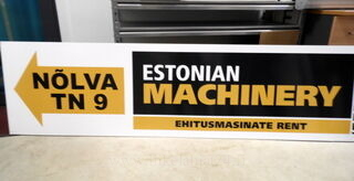 Ohjekyltti Estonian Machinery