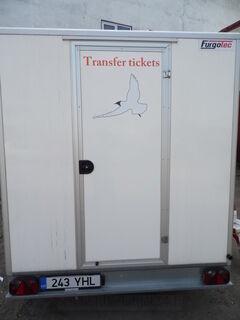 Trailerin mainostarra Transfer tickets