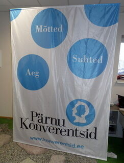 Lipukankaasta banneri Pärnu Konveretntsid