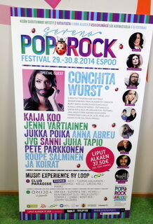 Mainoskyltti Pop Rock