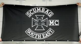 PVC banderolli Scumbag South East