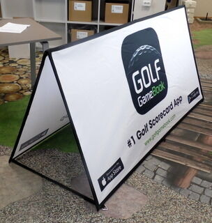 Neljakandiline softbänner Golf Game Book
