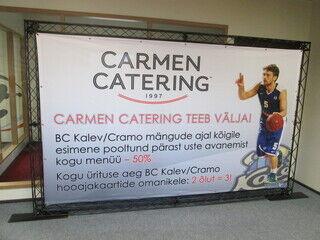 3,2 x 2m Trussi banderolliteline Carmen Catering