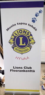 Roll-Up 850x2000 mm Lions Club Floorankenttä