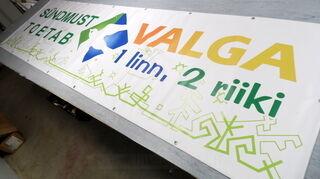 PVC banderolli Valga linn