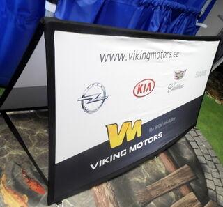 Suorakulmainen banneri Viking Motors