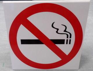 Varoituskyltti tupakointi kielletty