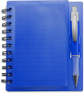 Lined notepad in muovi case
