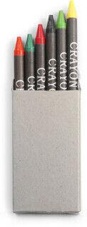 Crayon set in card box, 6pc