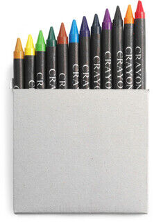 Crayon set in card box, 12pc