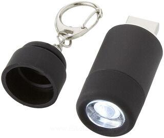 Avior ladattava USB avaimenperä taskulamppu