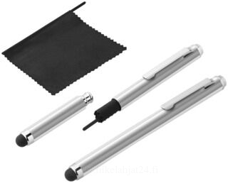 Stylus with screen wiper