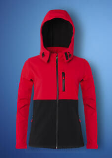 Ladies Hooded Contrast Shoftshell