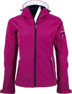 Ladies Hooded Fashion Softshell Jacket 3. kuva