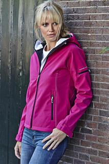Ladies Hooded Fashion Softshell Jacket 5. kuva