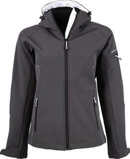 Ladies Hooded Fashion Softshell Jacket 2. kuva