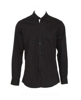 Contrast Premium Oxford Button Down Shirt LS