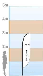 Mainoslippu Tuul 2600x600mm