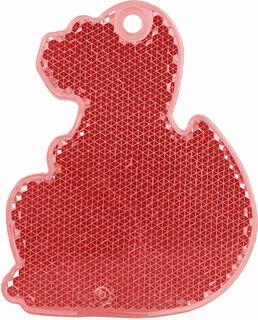 Heiastin dino 56x70mm punainen