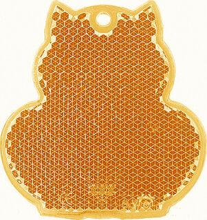 Heiastin kissa 57x59mm oranssi