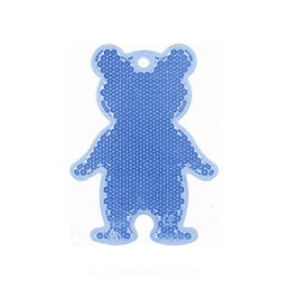 Reflector bear 51x70mm blue