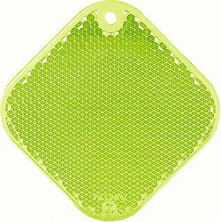 Heiastin neliö 63x63mm vihreä