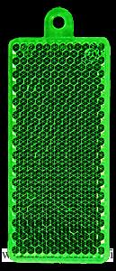 Heiastin suorakaide 32x78mm vihreä